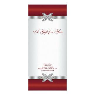Rote Diamant-Geschäfts-Geschenkgutscheine Individuelle Werbekarte