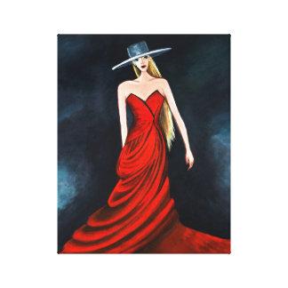 Rote Diva, die einzigartige Flamenco-Tänzer-schöne Leinwanddruck