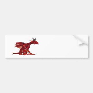Rote Drache-Autoaufkleber