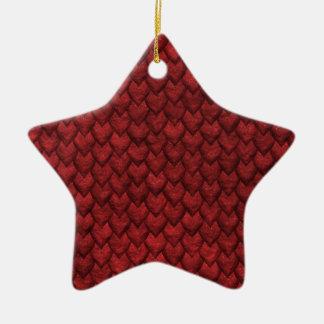 Rote Drache-Haut Keramik Ornament