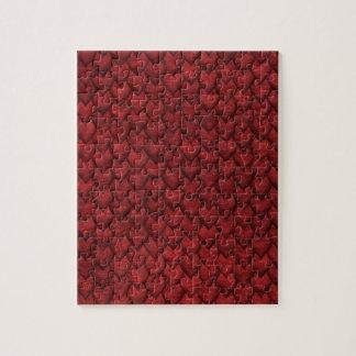 Rote Drache-Haut Puzzle