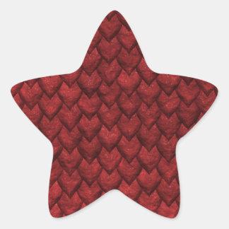 Rote Drache-Haut Stern-Aufkleber