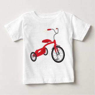 Rote Dreiradgraphik Baby T-shirt