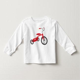 Rote Dreiradgraphik Kleinkind T-shirt