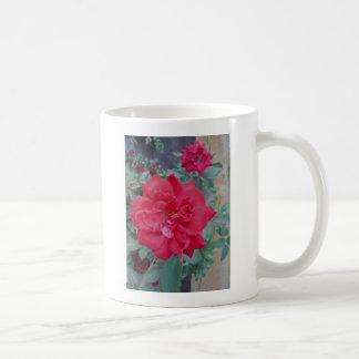 Rote dunkle rosa Rose Kaffeetasse