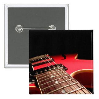 Rote E-Gitarre Anstecknadel