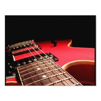 Rote E-Gitarre 10,8 X 14 Cm Einladungskarte