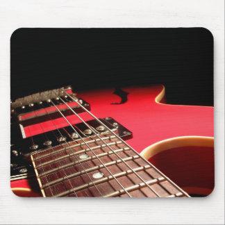 Rote E-Gitarre Mauspad