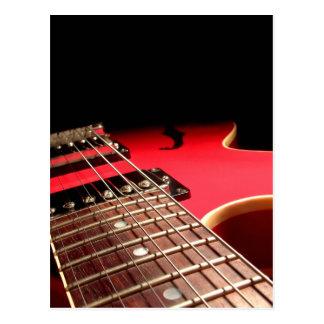 Rote E-Gitarre Postkarten