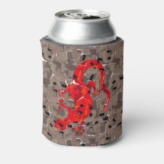 Rote Eidechsen-Collage Dosenkühler