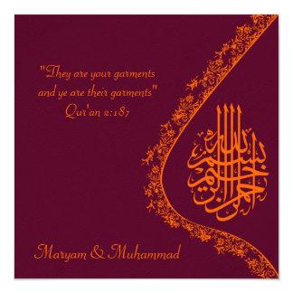 Rote Einladungskarte der islamischen
