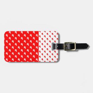 Rote Elefant-Reise-Taschen-Umbau-Schablone Gepäckanhänger