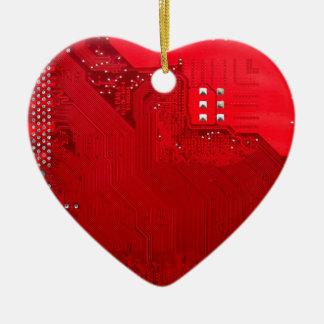 rote elektronische Schaltung board.JPG Keramik Herz-Ornament
