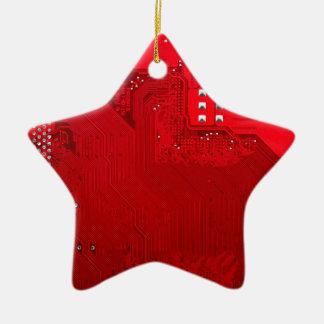 rote elektronische Schaltung board.JPG Keramik Stern-Ornament