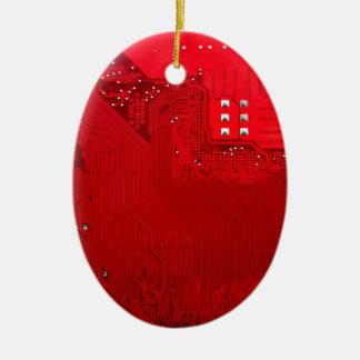 rote elektronische Schaltung board.JPG Ovales Keramik Ornament
