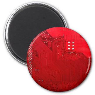 rote elektronische Schaltung board.JPG Runder Magnet 5,1 Cm