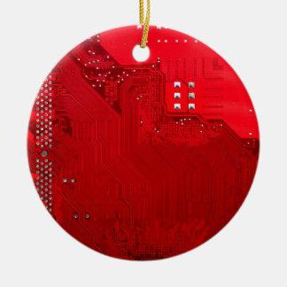 rote elektronische Schaltung board.JPG Rundes Keramik Ornament