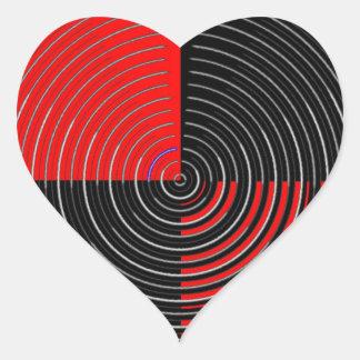 Rote Energie Chakra - schwarze Streifen des Herz-Aufkleber