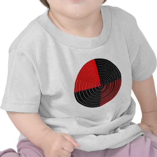 Rote Energie Chakra - schwarze Streifen des Silber Shirt