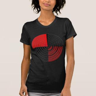 Rote Energie Chakra - schwarze Streifen des Silber Shirts