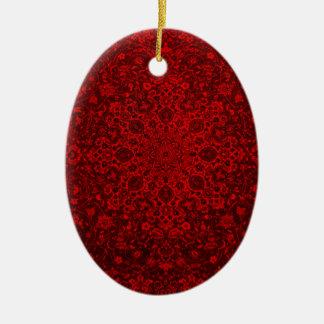 rote Entwurfskunst-Farbschöne reiche Liebe Keramik Ornament