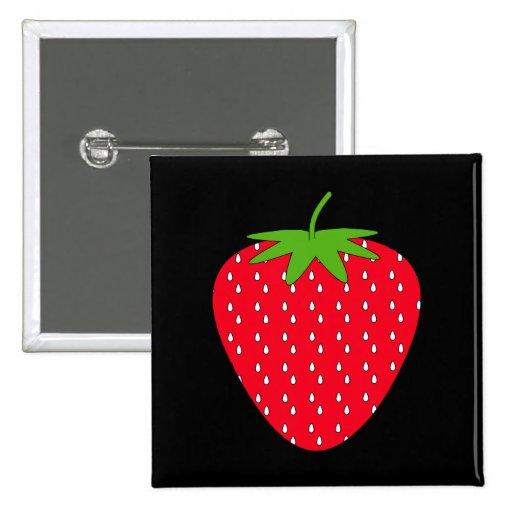 Rote Erdbeere Anstecknadelbuttons