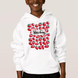 Rote Erdbeere Hoodie
