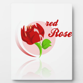 Rote Feind-Blume Fotoplatte
