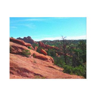 Rote Felsen-Steigung Leinwanddruck