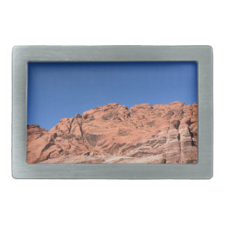 Rote Felsen und blaue Himmel Rechteckige Gürtelschnalle