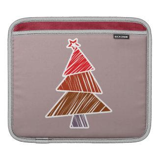 Rote flüchtige Weihnachtsbaum iPad Hülse Sleeve Für iPads