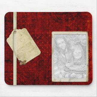 Rote Foto mousepad Schablone