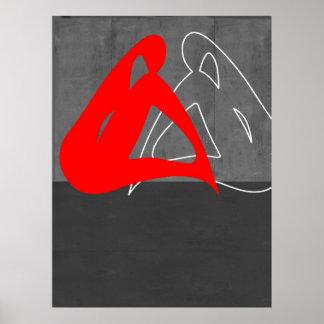 Rote Frau Plakatdruck