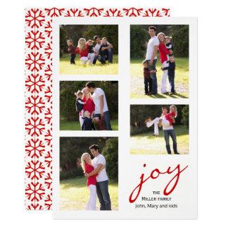 Rote Freude, Schneeflocke Foto Collage Weihnachten 12,7 X 17,8