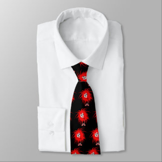 Rote Fuzzball Krawatte