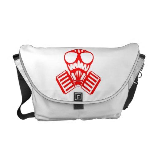Rote Gasmaske Kurier Tasche