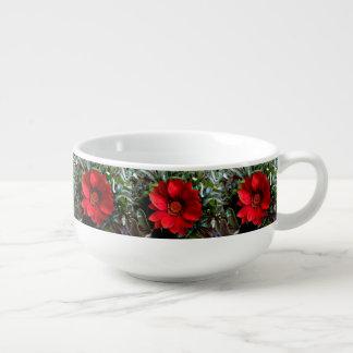 Rote Gazania-Blume Große Suppentasse