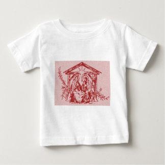 Rote Geburt Christi Baby T-shirt