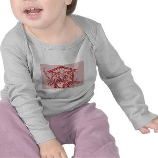 Rote Geburt Christi Shirt