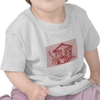Rote Geburt Christi T-Shirts