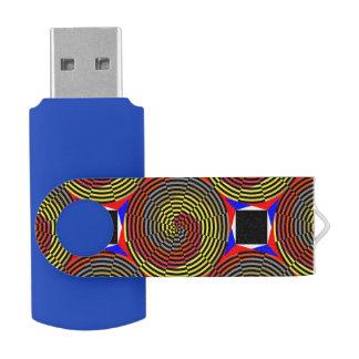 Rote gelbe Blau-Spirale USB Stick