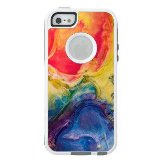 Rote gelbe blaue abstrakte Malerei OtterBox iPhone 5/5s/SE Hülle