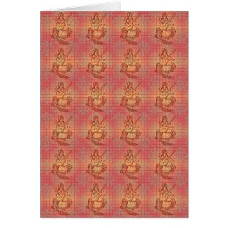 rote gelbe hindische Göttin Saraswati Klugheit Grußkarte