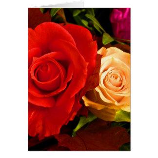 Rote gelbe Rose Karten