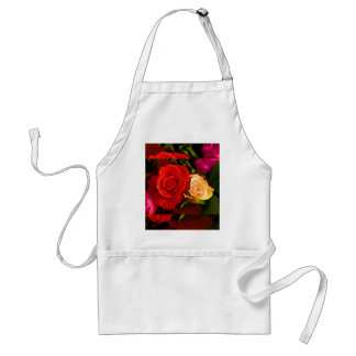 Rote gelbe Rose Schürze