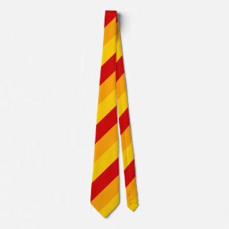 Rote, gelbe und orange Streifen Individuelle Krawatten
