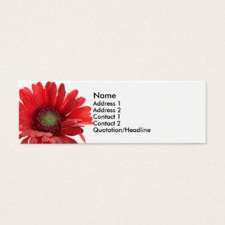Rote Gerber Gänseblümchen-Kontakt-Karte Mini Visitenkarte
