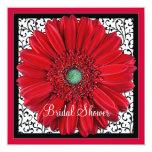Rote Gerbera-Gänseblümchen-Brautparty-Einladung