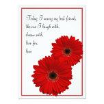 Rote Gerbera-Gänseblümchen-Hochzeits-Einladung