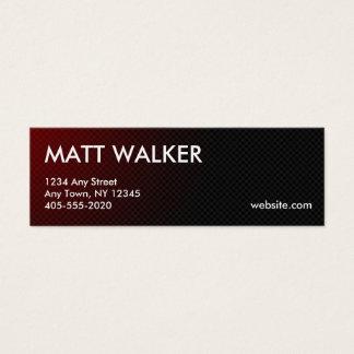 Rote Geschäftskarten der beruflichen Mini Visitenkarte